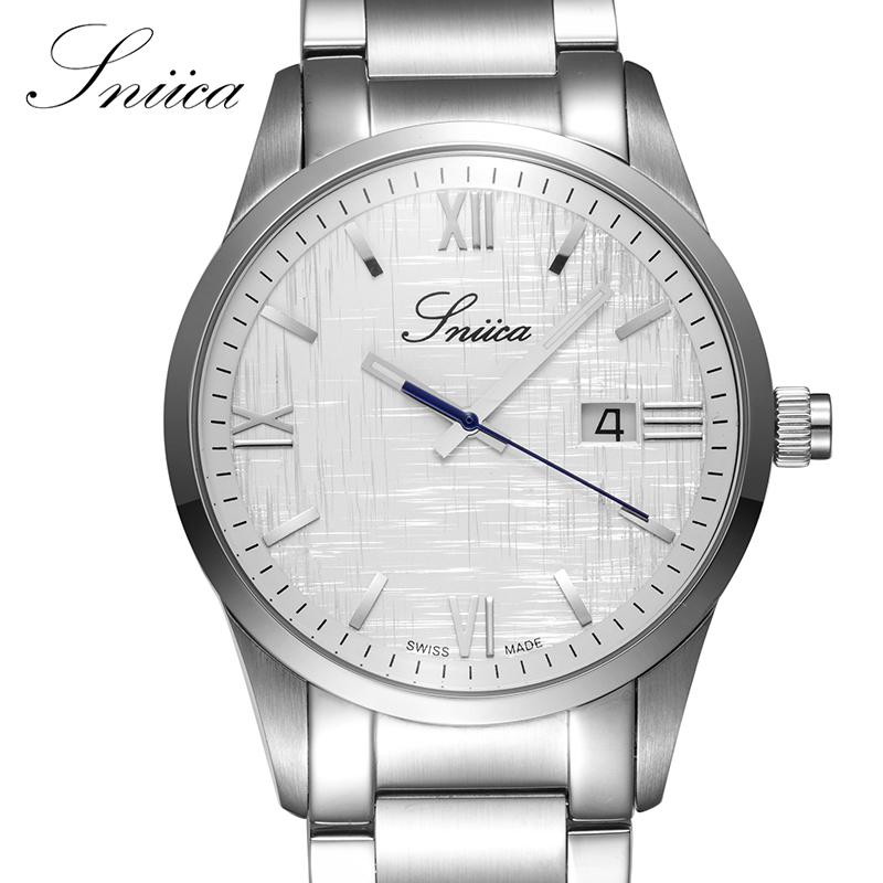 ФОТО SNIICA Quartz watch men Full Stainless Steel Business Wristwatch Date Clock Man Swiss movement watches relogio masculino SN2701