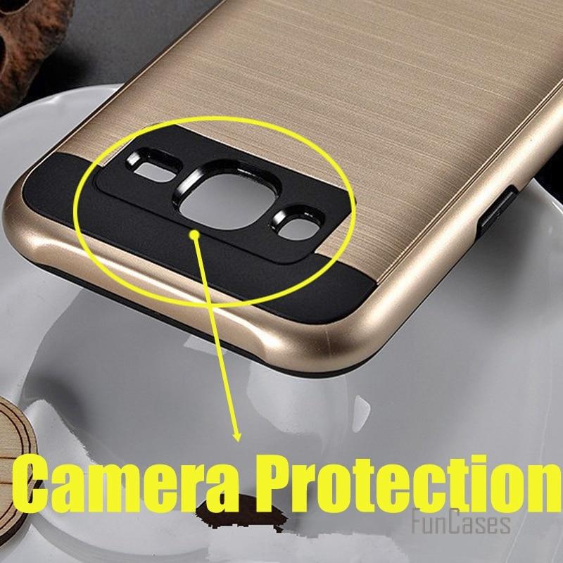 V5 case for samsung galaxy J1 J2 J3 J5 J7 Plastic Hybrid TPU armor case for galaxy A5 A7 A8 E5 E7 protect back Cover portable ^<