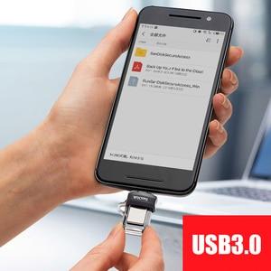 Image 2 - SanDisk OTG USB Flash Drive 32GB 16GB USB 3,0 Dual Mini Pen Drives 128GB 64GB PenDrives für PC und Android handys Kostenloser versand