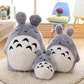 45/75 cm 2017 Nuevo Estilo Sueño Estrabismo Totoro Peluches kids cojín almohada totoro Muñeca de trapo bebé de juguetes regalo de navidad