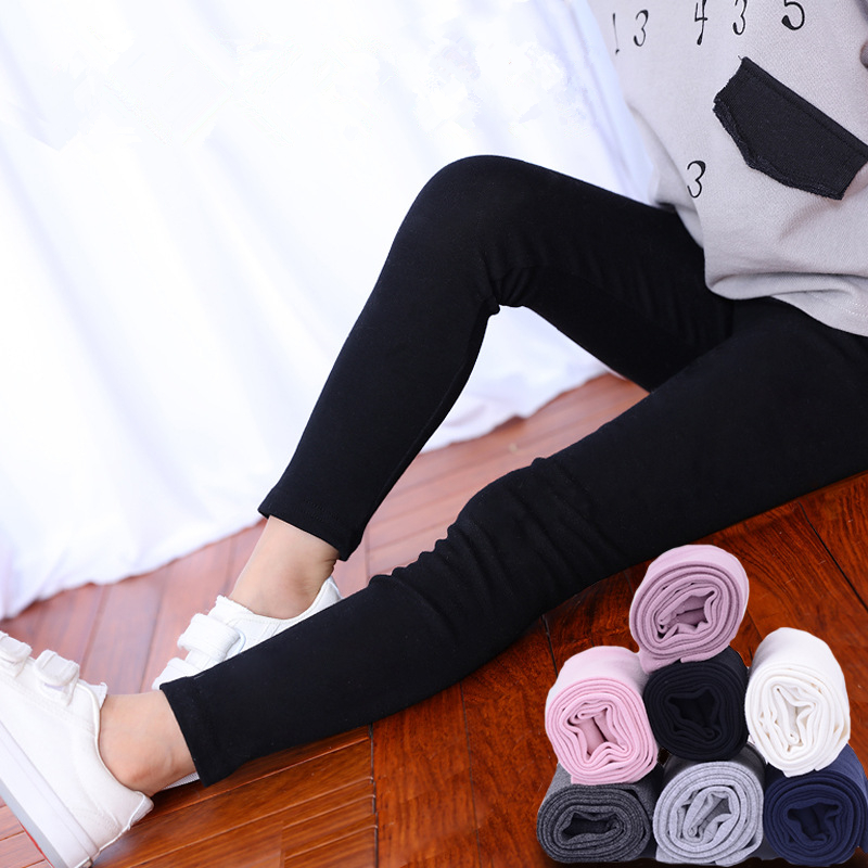2018 Summer Girls Skinny Long Pants Black White Children Bottoms Leggings Kids Elastic Trousers Girls Cotton Leggings For 3-10T цена 2017