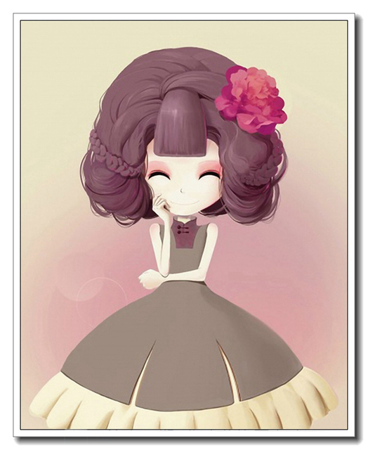 Kawaii Linda muñeca Barbie impresión nórdica moderna imagen del arte ...