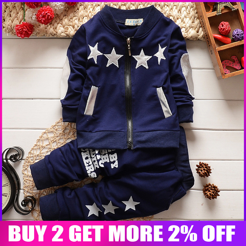 Clothing Sets fashion baby boys/girls christmas tracksuit long sleeve coat pants kids outfits suit Zip cardigan star sports suit одежда на маленьких мальчиков