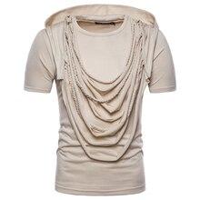 ZYFG Free brand Mens casual Hooded short sleeve t shirt 2018 new Fashion O-neck Hip-hop design Tees t-Shirt men Tops EU/US size