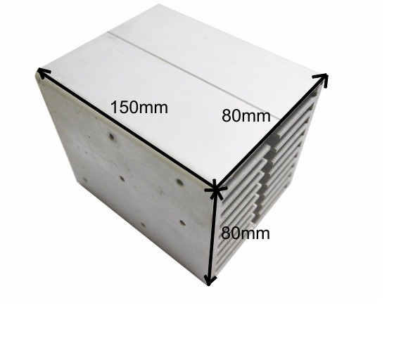 High quality CPU aluminum heat sink 80*80*150mm electronic aluminum alloy air cooled radiator Can install fan aluminous profile medium computer cpu plastic cooling fan leaves card blower heat sink