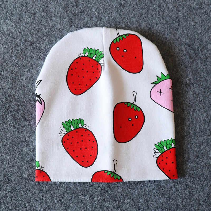 Gorra de algodón para bebé de impresión gorras niño niña gorro para bebé gorro primavera Otoño Invierno sombreros para niños recién nacido de 0-3 años