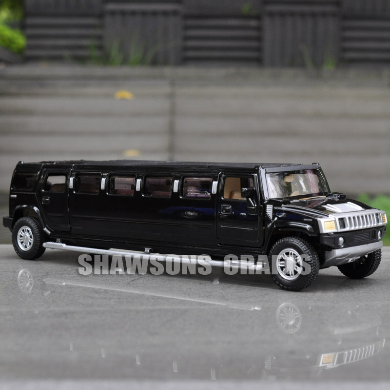 1 32 diecast model toys pull back car hummer h2 stretch limousine w