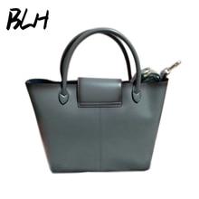 2017 women's genuine leather handbag brief bucket bag one shoulder bag cross-body handbag picture women's large capacity bags