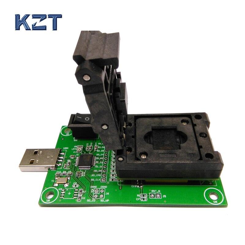 Clamshell Structuur EMCP221 Reader USB, Voor BGA 221 Testen, Size 11.5x13mm, Nand Flash Programmeur