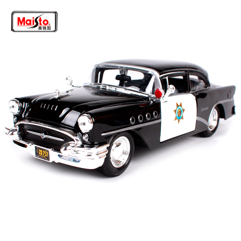 Maisto 1:24 1955 Buick Century Outlaws police car Diecast Model Car Toy New In Box Free Shipping 31295 maisto 1 18 mini cooper sun roof diecast model car toy new in box free shipping 31656