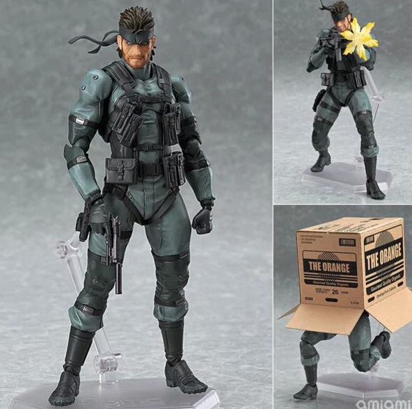 METAL GEAR SOLID 2: SONS OF LIBERTY Figma 243 Snake PVC Action Figure Collectible Model Toy 16cm Anime Games Figures new metal gear solid v action figure toys 16cm mgs snake figma model collectible doll mgs figma figure kids toys christmas gifts