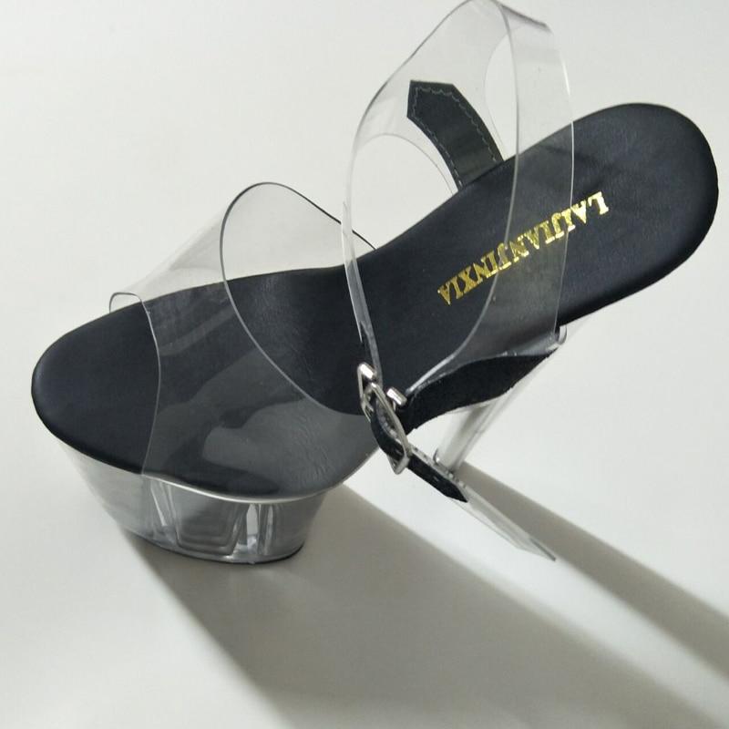 Knöchelriemen Heelss Damen Heels Plattform Bühne Frauen Sexy Laijianjinxia Ultra High Schnalle e005 Sandalen 20 Cm E087 Club Dünne OB17HqAw