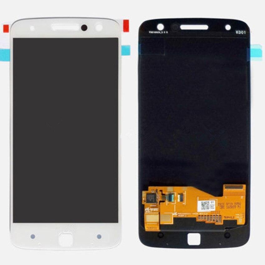 все цены на  Black White New LCD Display Digitizer Screen Assembly For Motorola Moto Z Droid XT1650-05 free shipping  онлайн