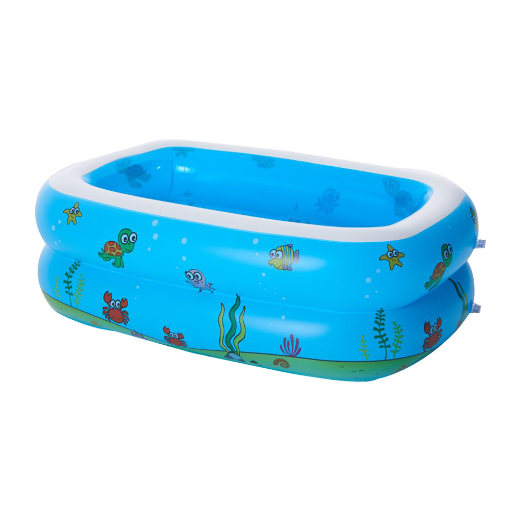 pool Large Inflatable Swimming Pool Center Lounge Family Kids Water Play Fun Backyard Toy 110*90*40CM Swimming pools environmentally friendly pvc inflatable shell water floating row of a variety of swimming pearl shell swimming ring