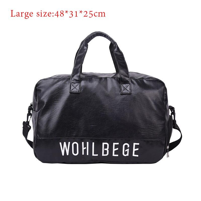Мужская Дорожная сумка в стиле Лолиты, большая спортивная сумка, независимая обувь для хранения, большая сумка для фитнеса из искусственной кожи, женская сумка, сумки для багажа, спортивная сумка - Цвет: BlackB