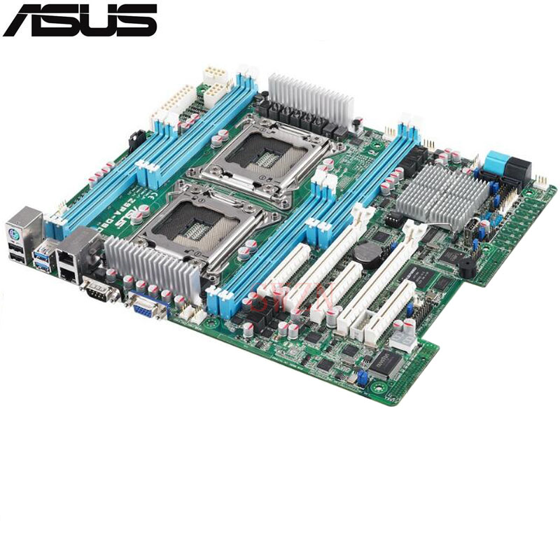 original Used Server motherboard For ASUS Z9PA-D8C Socket 2011 E5-2600/E5-2600 v2 Maximum 8*DDR3 64GB 2xSATAIII 4xSATAII ATX for 0ur033 ur033 p1950 ii socket 771 server system motherboard