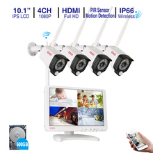 Tonton 4CH 1080P Wireless CCTV System 10.1