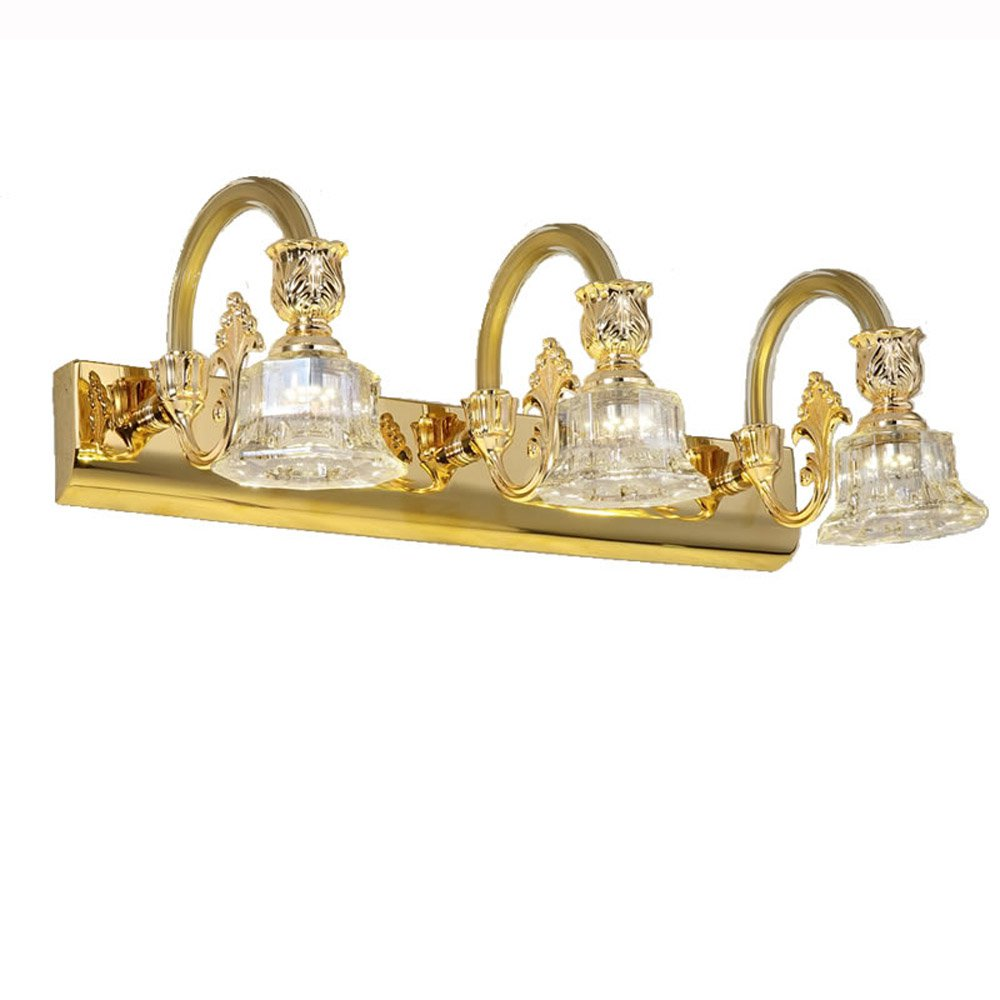 Modern Crystal LED Washroom Wall Light Bathroom Golden Mirror Front Wall Sconces Cheap Wholesale Cabinet Wall Lighting Fixtures