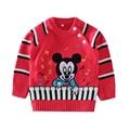 Children's long sleeve sweater cartoon printing spring autumn button children sweater baby boy girl sweater
