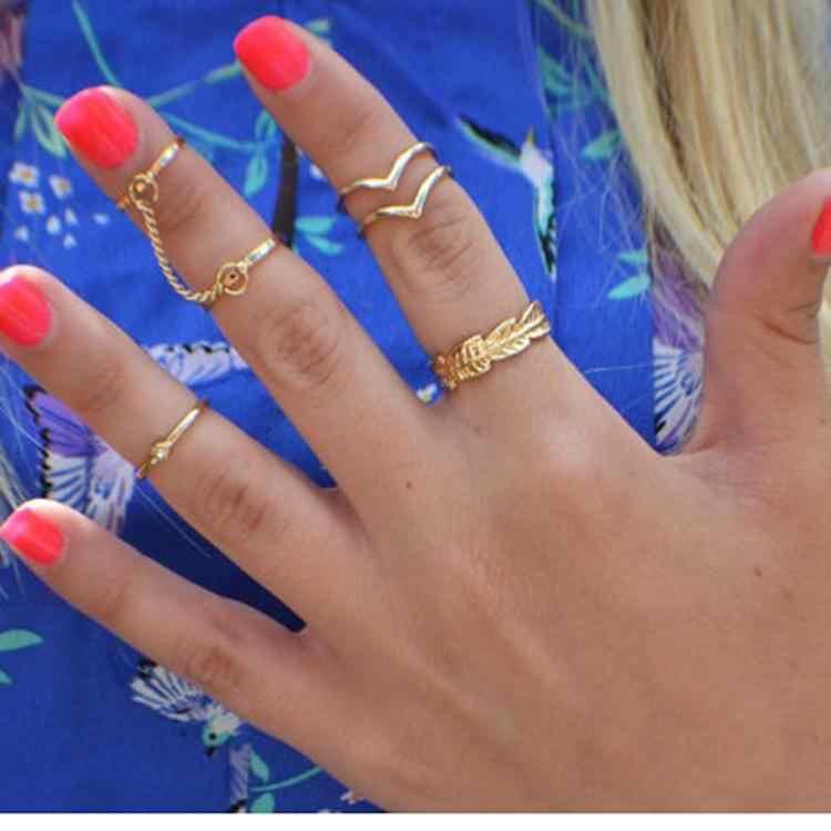 Модные хрустальные варежки в форме листьев, соединенная цепь, кольца для пальцев, набор цветов, золотые, серебряные очаровательные украшения, Прямая доставка