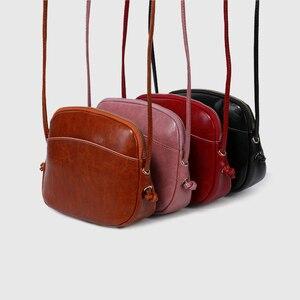 Image 3 - Zency Милая женская сумка мессенджер из 100% натуральной кожи, мягкая кожа, для девушек, сумка для путешествий, элегантная сумка на плечо, дамские сумки для телефона