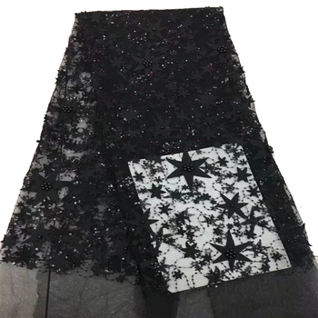 Dark Green Wedding Dress African Lace Fabric New Fashion French Tulle Lace Embroidery 3D Flower lace Fabric HX40-2