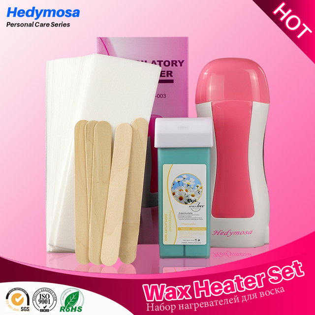 Hedymosa Wax Heater Hair Removal Machine Set Epilator 110V/220-240V Shaving  Machines * 1 + Wax * 1 +  Paper * 30 + Wood * 5