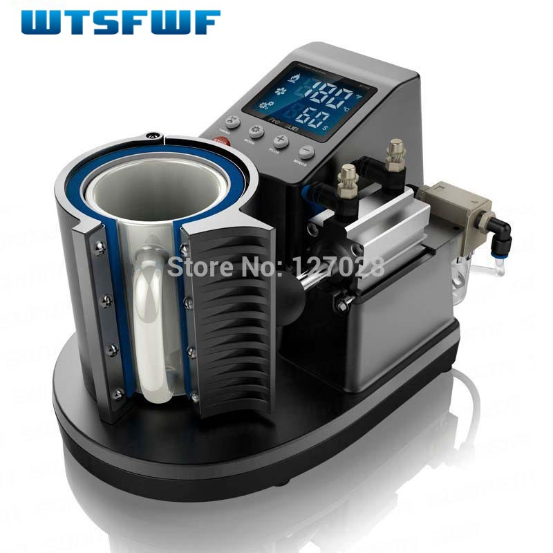 Wtsfwf New Ariival ST-110 Pneumatic Mug Press Printer Mesin 2D Digital Mug Thermal Printer