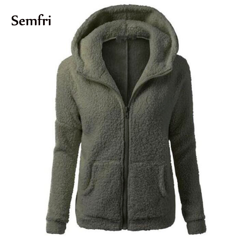 Semfri Women Fashion Loose Cotton Coats Solid Elegant Jacket Plus Size 5xl Casual Soft Fleece Outwear Fashion Clothing 2019