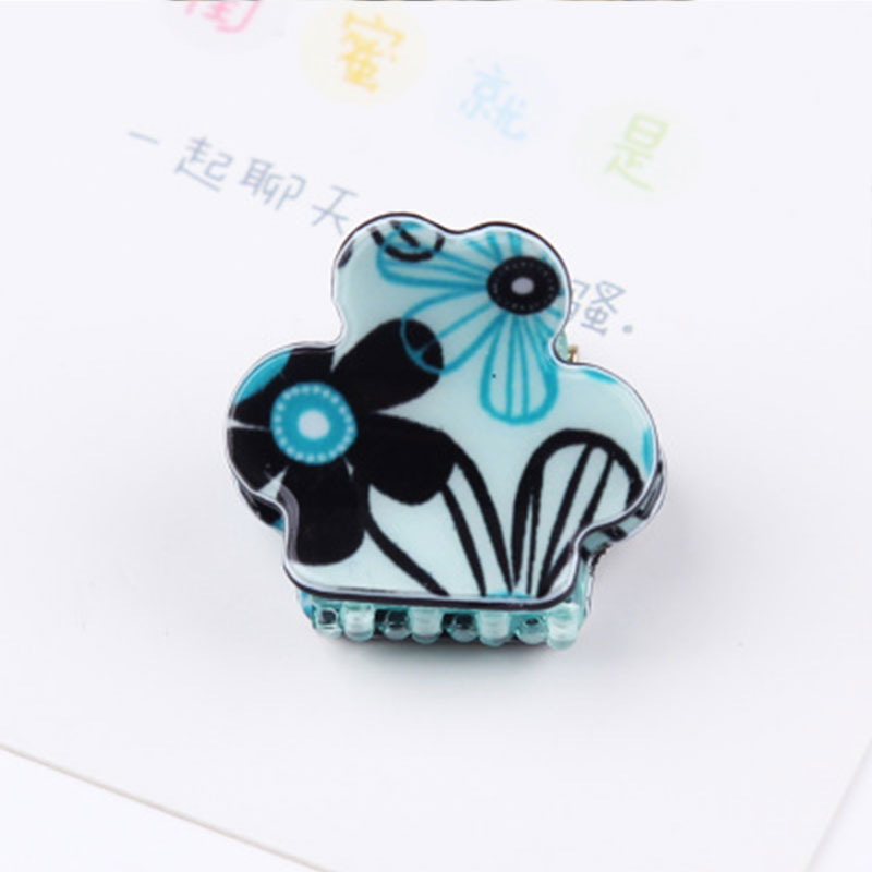 1PC New Cute Small Hair Clip Leopard Flowers Hair Claws Girls Hairpins Print Flower Hairgrips Lovely Women Hair Accessories 12 colors cute girls hairpins children elsa side knotted clip hairpin hair clip small size hair accessories