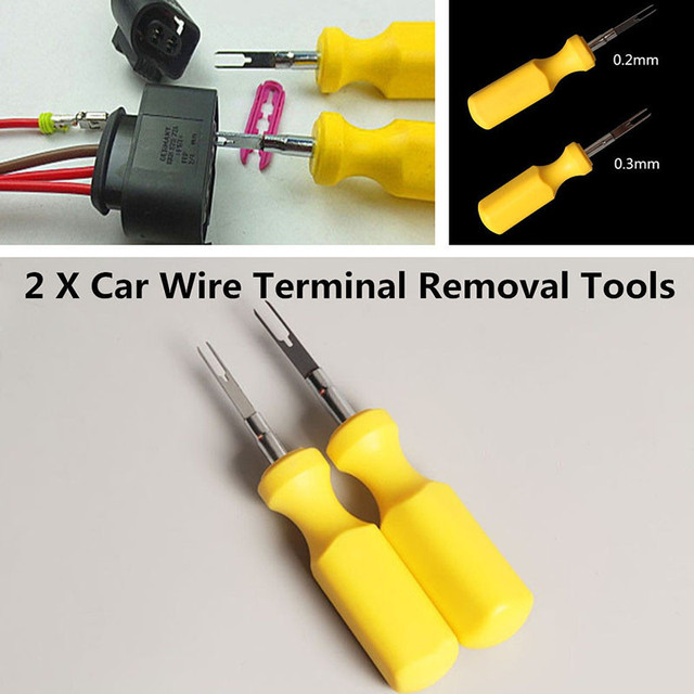 2x 3mm + 2mm Electrical Terminal Removal Tool Car Wiring Connector ...