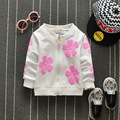 Newest 2016 Autumn Baby Girls Flowers Coat Printing Cotton Infant/Newborn Cardigan Coat Korean Fashin Kids Children Outerwear