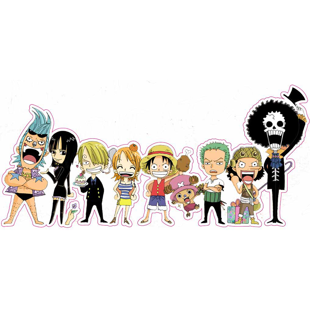 One Piece - Fixed Gear & Luggage & Guitar Stickers - Reusable ONEPIECE Cartoon Refrigerator Sticker S31