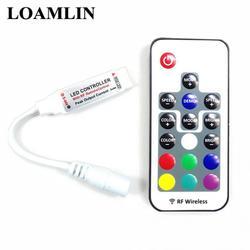 17-ключ маленький, радиочастотный, Беспроводной светодиодный затемнения дистанционного Управление для 5050/3528/5730/5630/3014 RGB цветные полоски