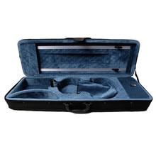Rectangle Canvas Violin Case Foam Violino Case Handmade 4/4 Size  Black color