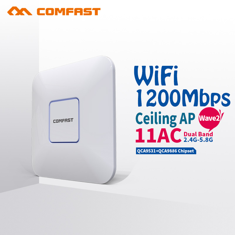 все цены на 1200Mbps Wireless Access Point Ceiling AP WIFI Router WIFI Repeater WIFI Extender High Power With 3dBi Antenna Support VLAN PoE онлайн