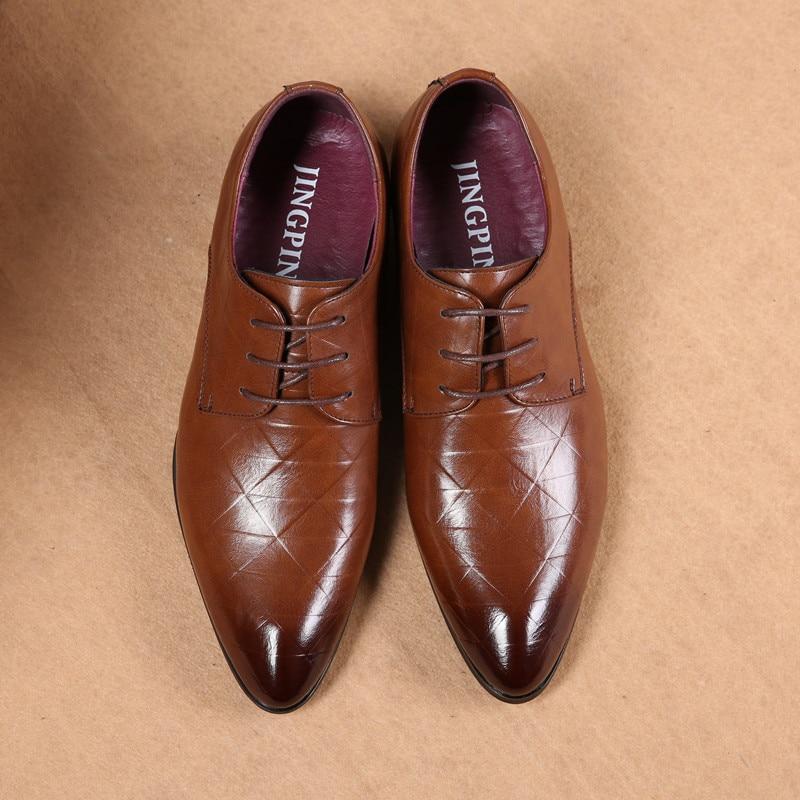 Escritório Britânico Pé Do Schoene Preto De Grande Pontas Tamanho Northmarch Couro Mannen Dedo Dos Negócios Estilo Se Masculinos marrom Homens Sapatos Vestem ntqUxwzT0