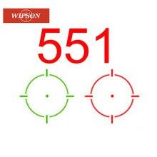 WIPSON 551-mira holográfica óptica de caza táctica para exteriores, reflejo, punto verde y rojo, con montaje de riel de 20mm para tiro