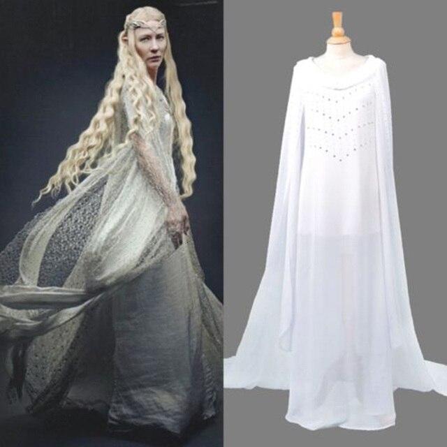 Halloween Herr der Ringe Der Hobbit Dame Galadriel Cosplay Customes ...