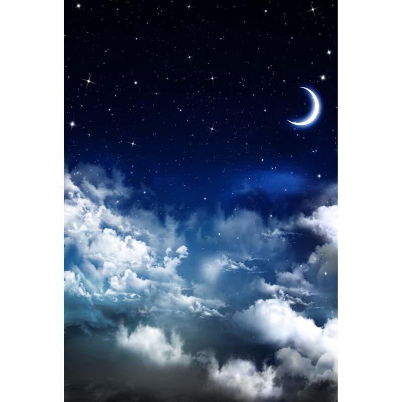 Sky Moon Stars  Night Backgrounds for sale High-grade Vinyl cloth Computer printed newborns backdrops зенитный прожектор night sun sf011 sky rose купить