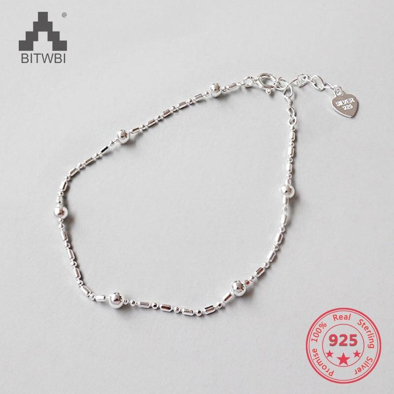 Classique Simple petite boule ronde perles Bracelet 925 en argent Sterling pour les femmes mode bijoux cadeauClassique Simple petite boule ronde perles Bracelet 925 en argent Sterling pour les femmes mode bijoux cadeau