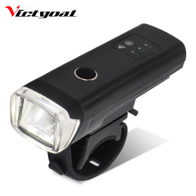 VICTGOAL Bike Light USB Rechargeable Flashlight For Bicycle Intelligent LED Cycling Headlight Frontlight MTB Lamp