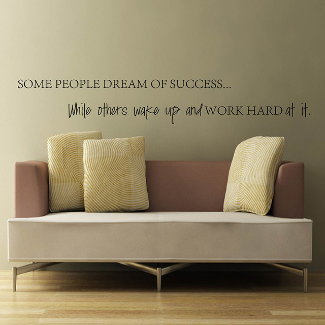 Famous Quote Wake Up Work Hard At Your Dreams Motivational Quotes Wall  Sticker DIY Decorative Inspirational