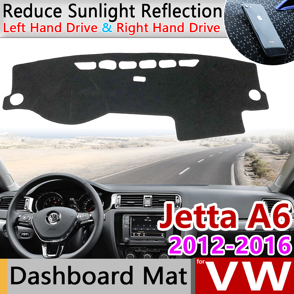 For Volkswagen VW Jetta 6 A6 MK6 2012~2018 5C6 Anti-Slip Mat Dashboard Cover Pad Sunshade Dashmat Car Accessories 2013 2014 2015