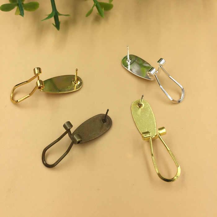 20 мм античная бронза/серебро/золото цвет серьга в виде клипсы, просто зажим для ушей, Винтажные серьги аксессуары