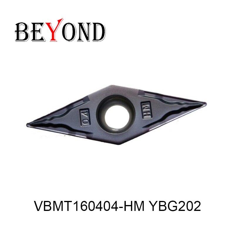 VBMT160404-HM YBG202, d'origine ZCC carbure insert VBMT 160404 HM YBG202 utilisation pour porte-outil de tournage barre d'alésage