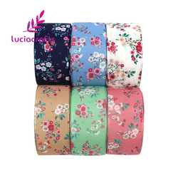 Lucia Crafts 3yards/Lot    Flower Satin Ribbons 26mm Handcrafts DIY Bow  Trim Ribbon Wrapping  Accessories T0109