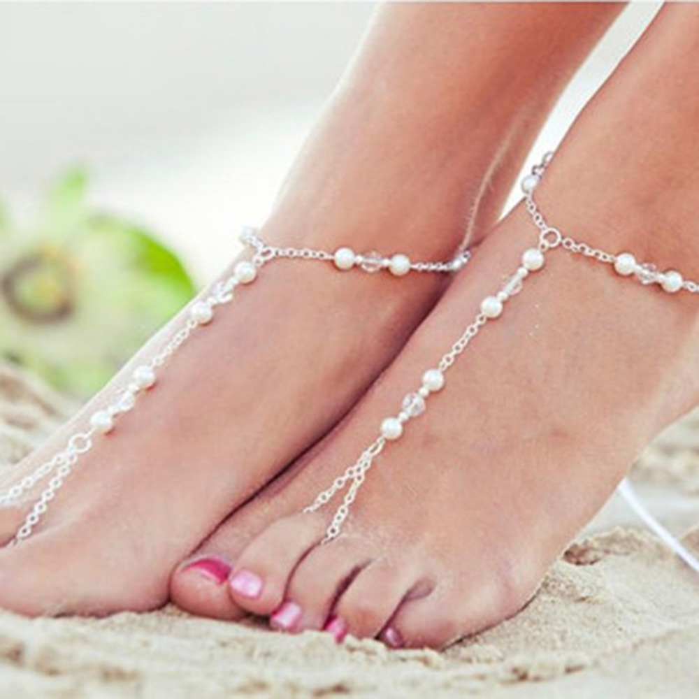 2 Style Fashion Hamsa Fatima Hand Anklet Beach Foot Jewelry Tassel Claw Chain Ankle Bracelets For Women Gift