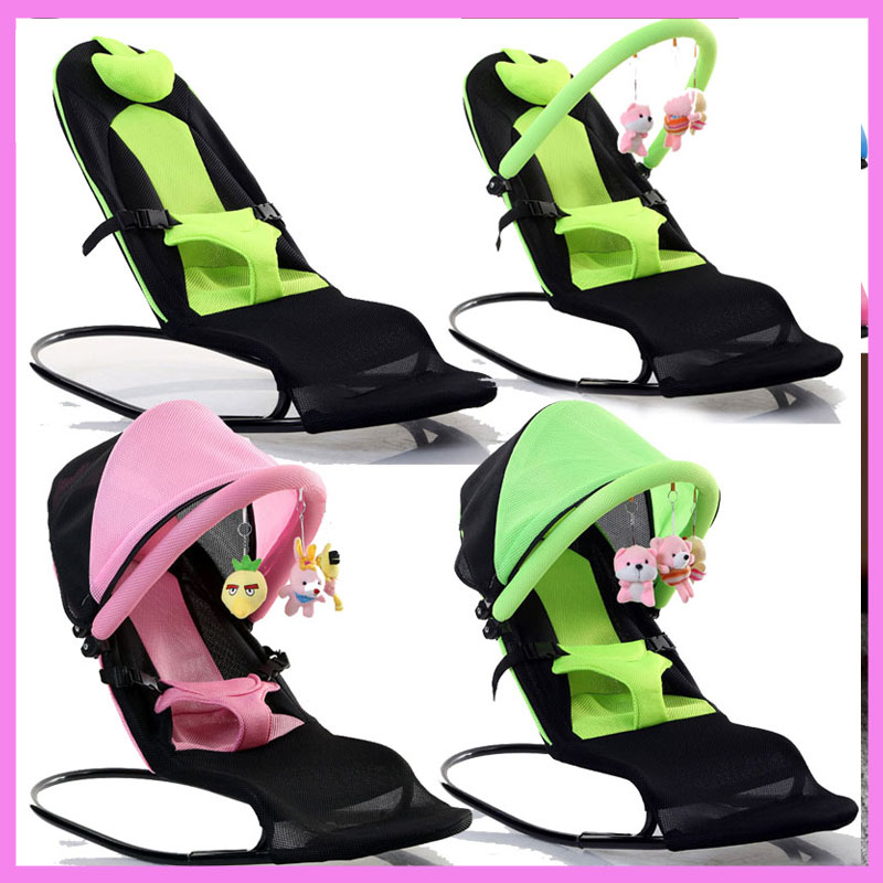 New Version Three Deformable Portable Adjustable Folding Baby Child Cradle Swing Chair Lounge Recliner Bouncer 0~3 Y 2017 new babyruler portable baby cradle newborn light music rocking chair kid game swing