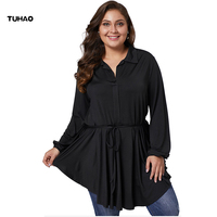 TUHAO 2019 Spring Office Lady OL Women Shirt Tops Blouse Plus Size 5XL 4XL 3XL Woman Blouses Female Blusas Camisa Feminina DLM